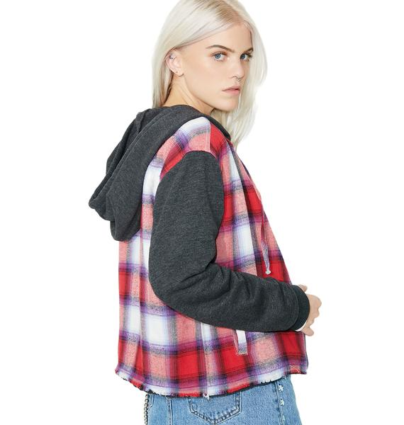Just Chill Plaid Jacket