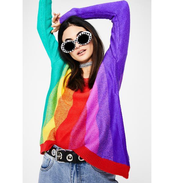 Loud N' Proud Rainbow Sweater