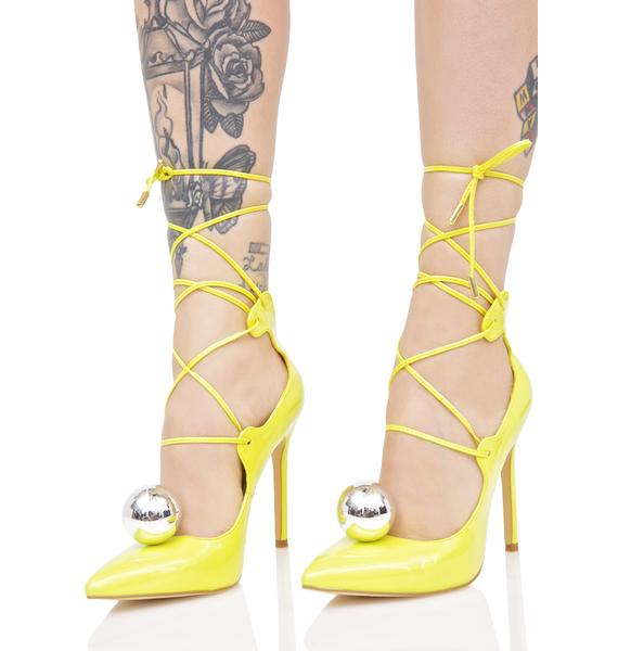 Privileged Electrified Vida Lace-Up Heels