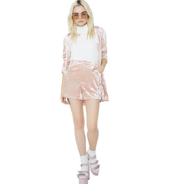 Smart N' Smarter Velvet Shorts