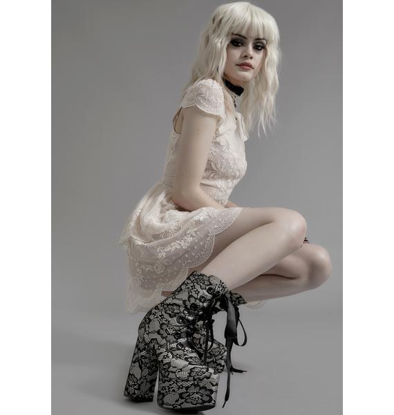 Widow Lacrimosa Lace Platform Boots