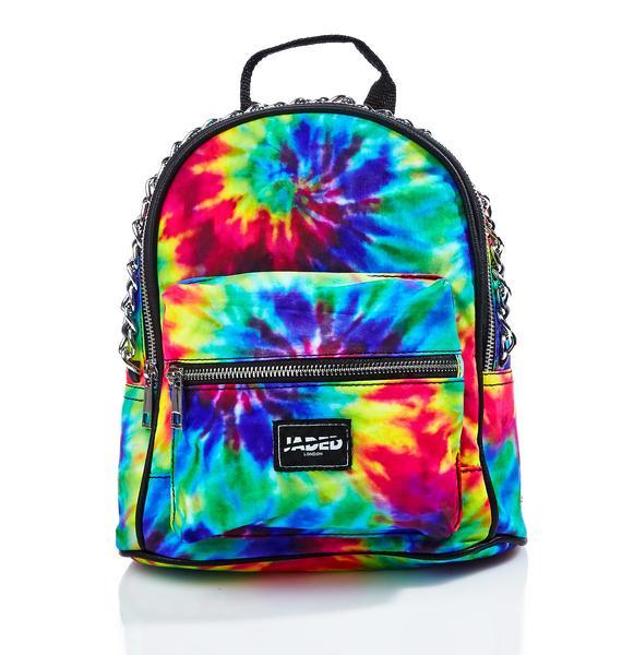 Jaded London Chained Tie Dye Mini Backpack