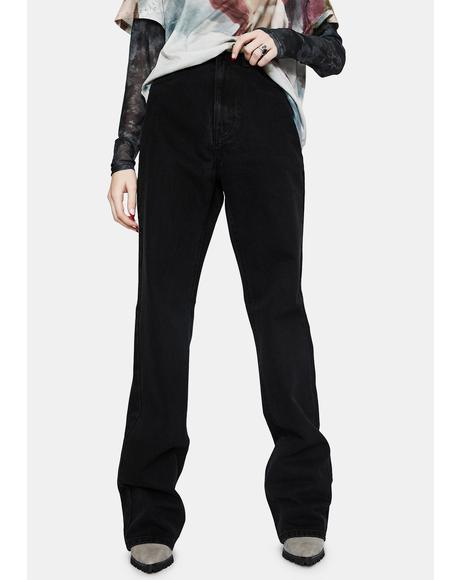 True Black Baggy Jeans