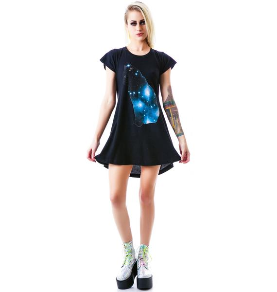 Wildfox Couture Galaxy Cat Daisy Dress