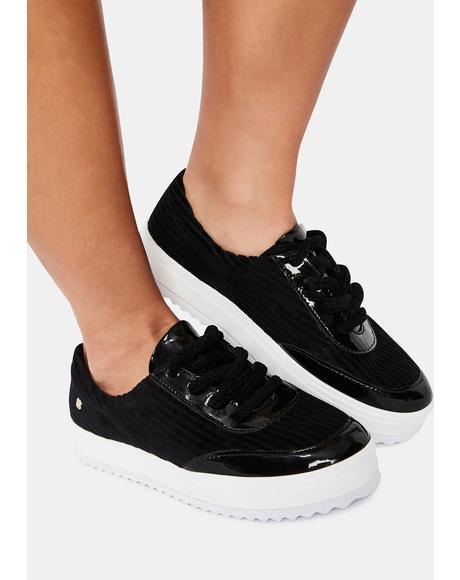 Black Torrington Platform Sneakers