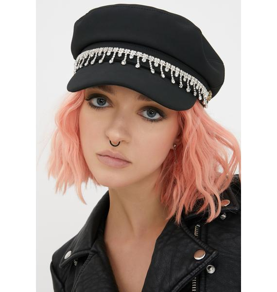 Icy Heart Biker Hat
