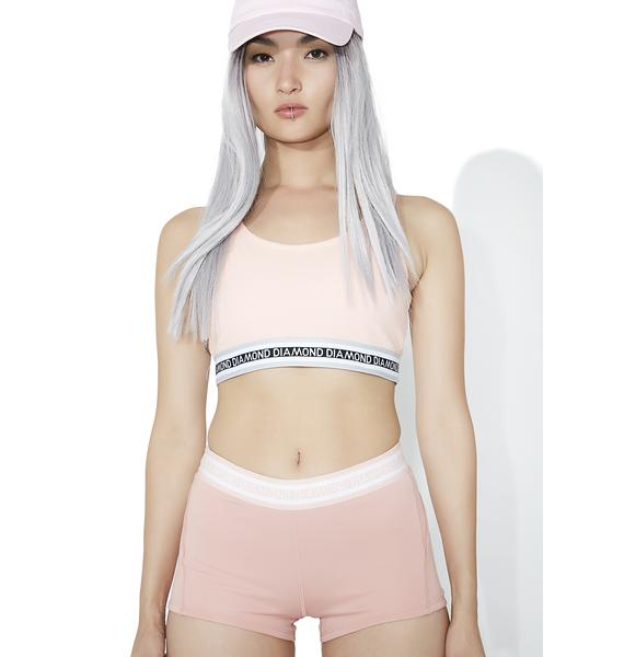 Diamond Supply 24 Karat Rose Athletic Shorts