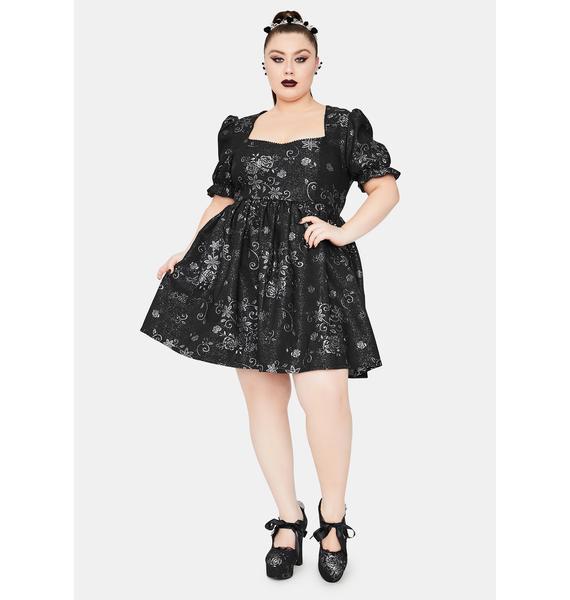 Widow Enchanting Night Music Brocade Babydoll Dress