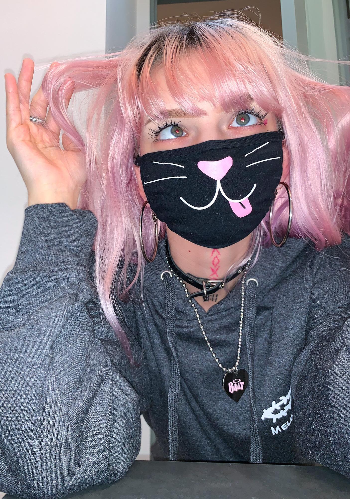 Dolls Kill Meow & Furever Face Mask