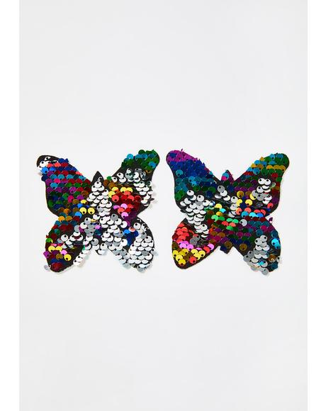 Rainbow Sequin Butterfly Pasties
