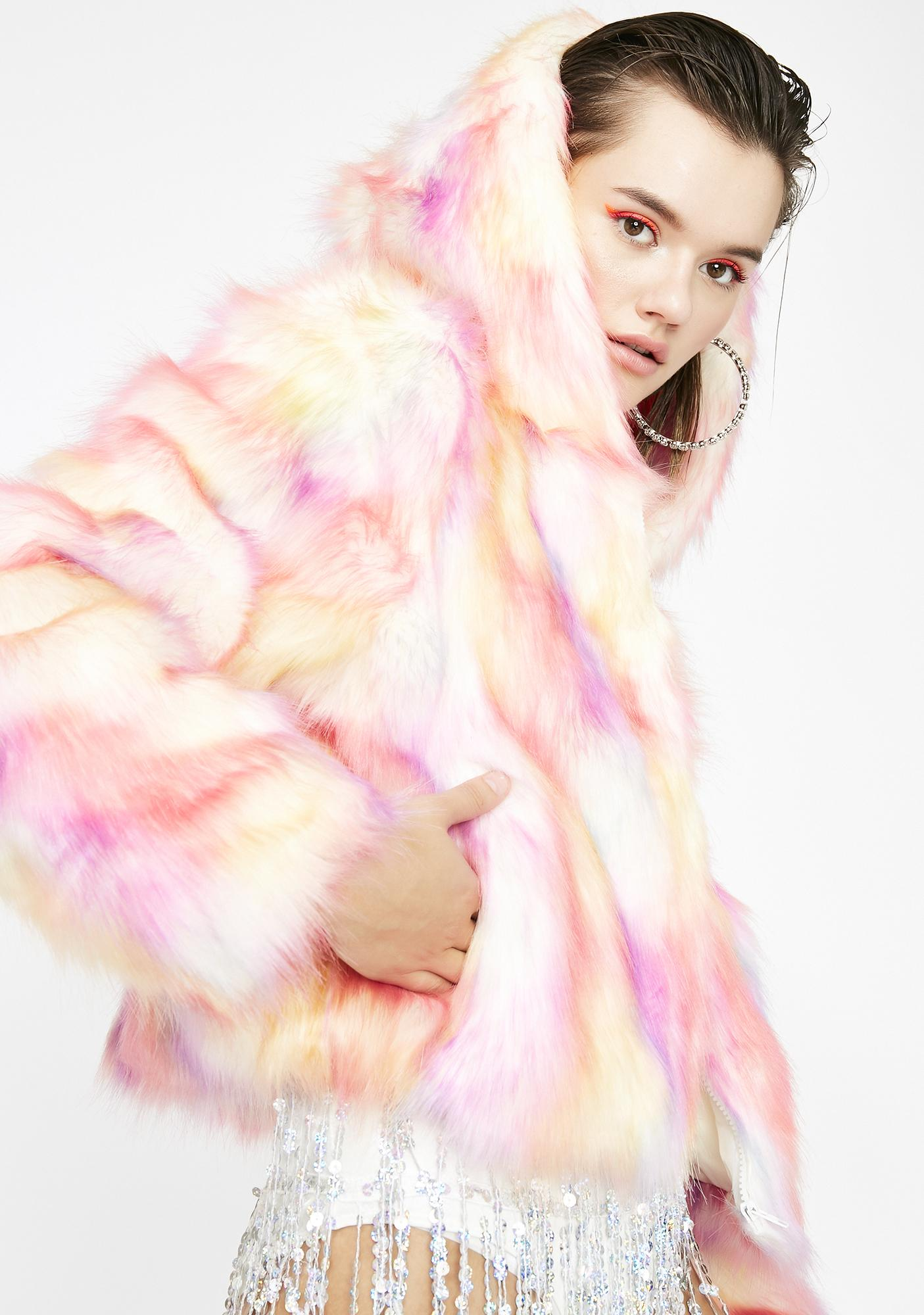 Candy Flossin' Fuzzy Jacket