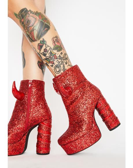 Date The Devil Glitter Boots