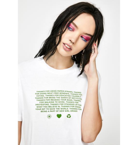 NEW GIRL ORDER Manifesto Organic Graphic Tee