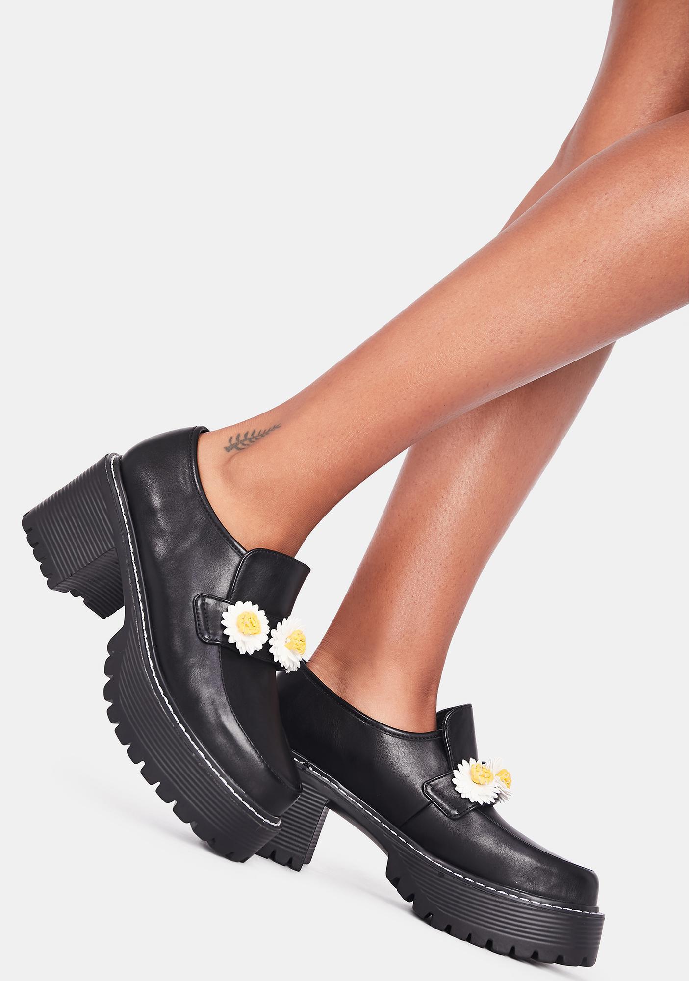 Koi Footwear Primrose Flower Chunky Loafers