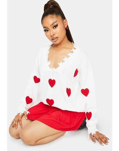 Heart On The Line Sweater