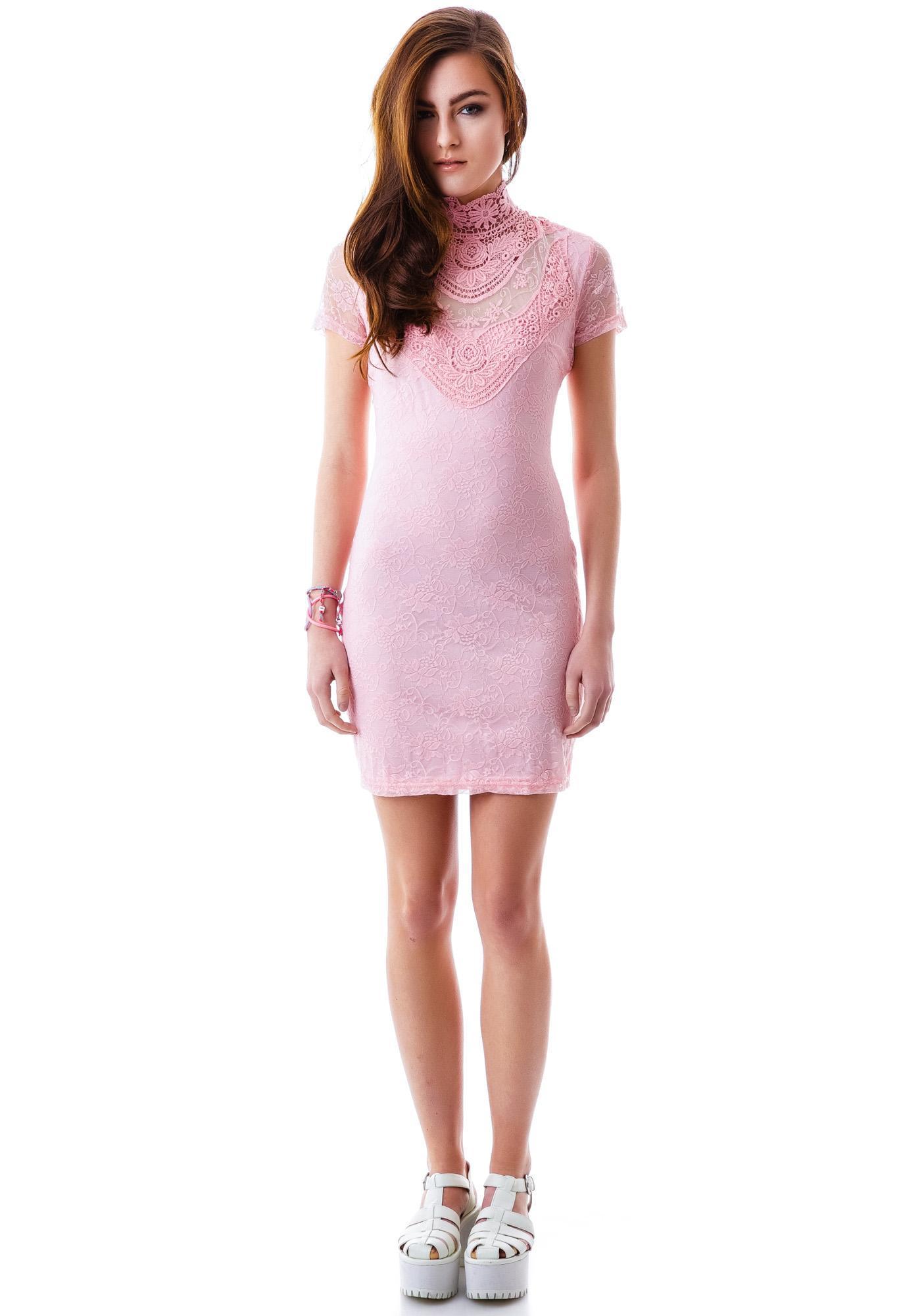 Pretty in Peony Lace Dress