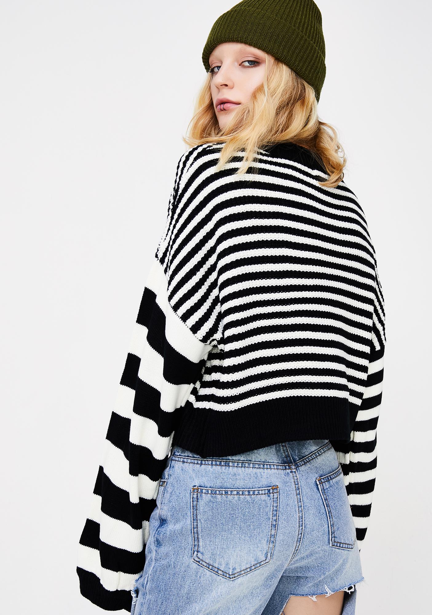 Heart Burglar Striped Sweater