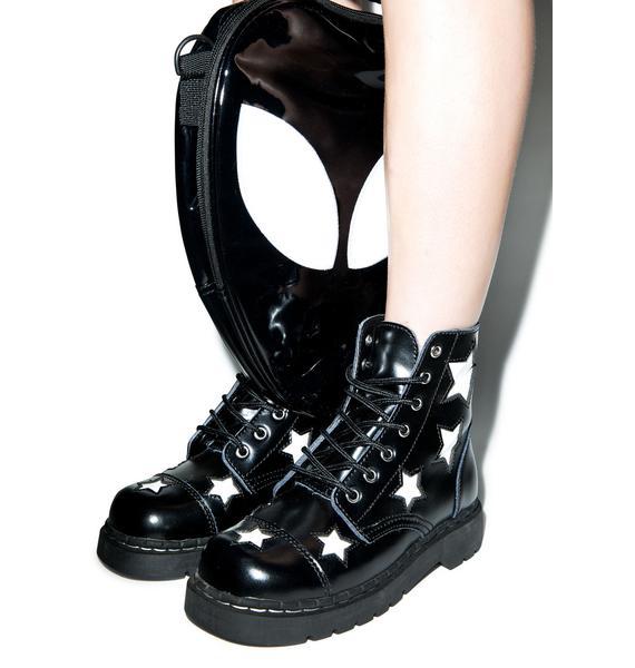 T.U.K. Stars 7 Eye Leather Boots
