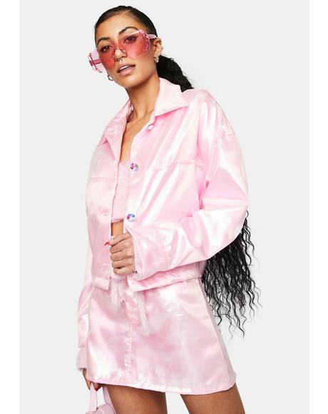 Light Pink Fairy Dust Iridescent Jacket