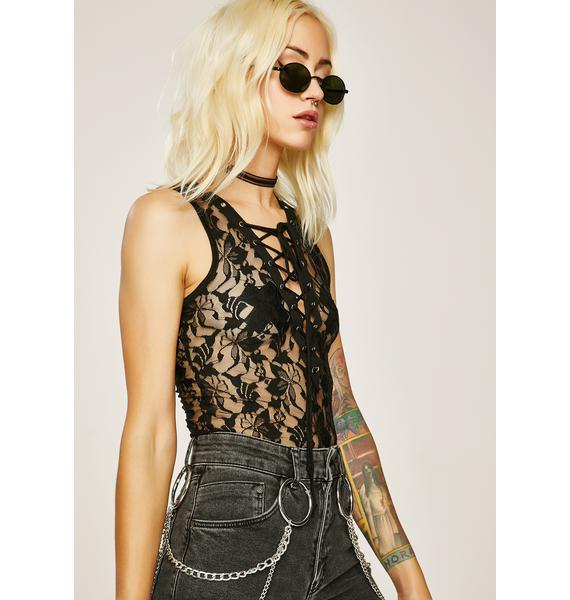 Hidin' Secrets Lace-Up Bodysuit