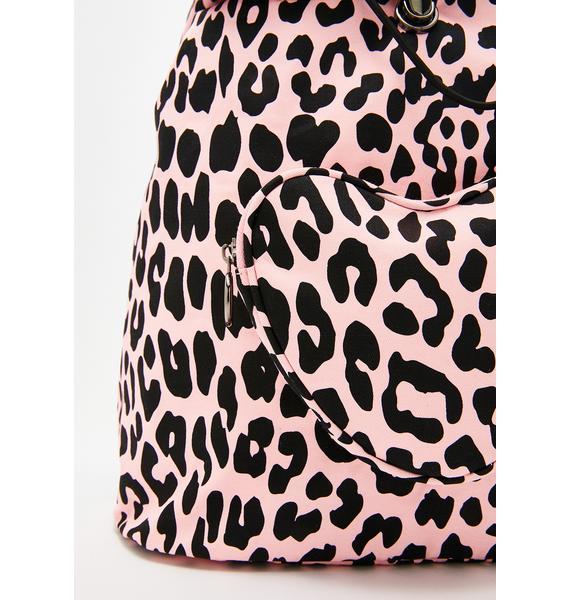 Lazy Oaf Pink Leopard Rucksack