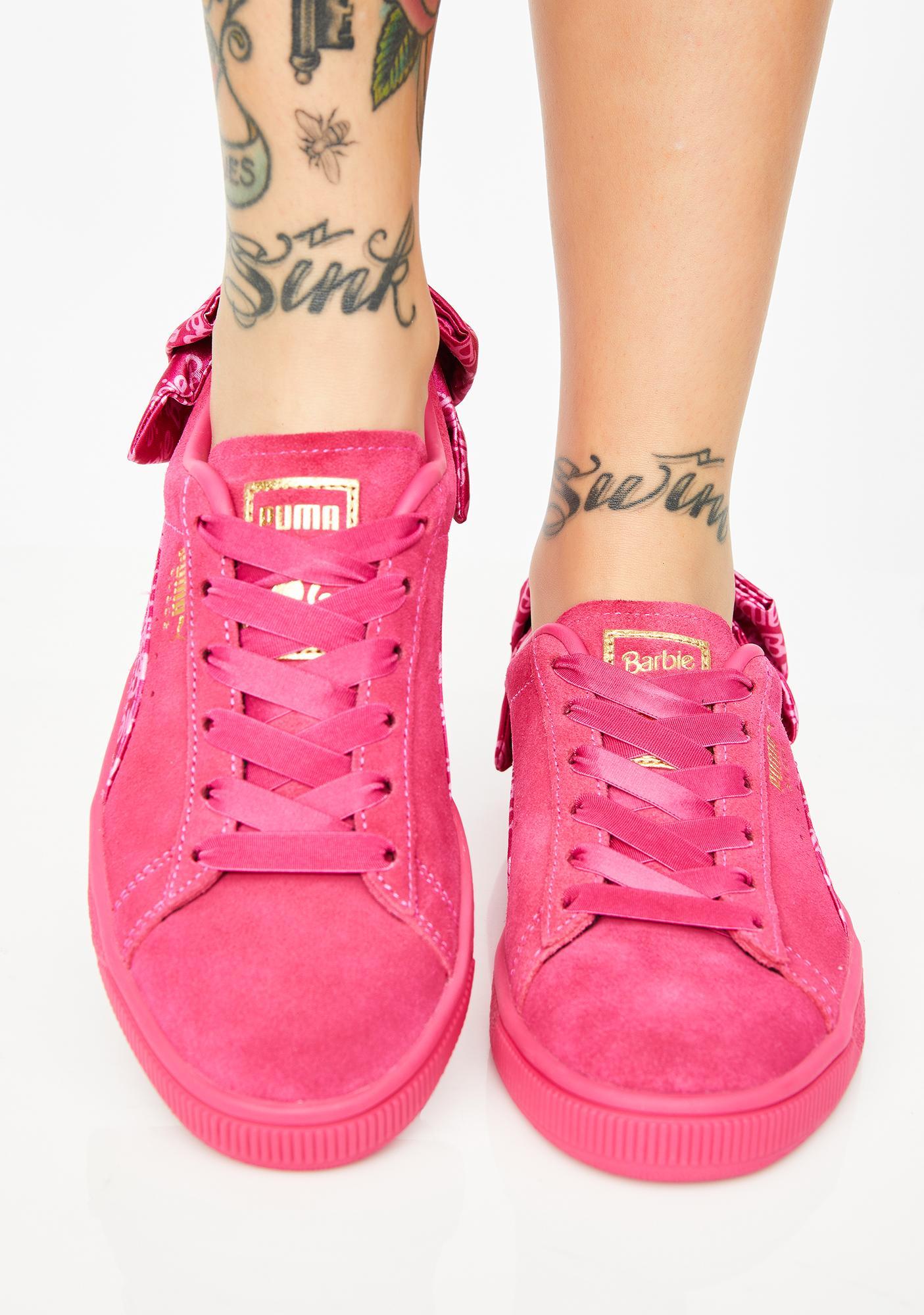056d9c0e0 PUMA X Barbie Suede Classic Sneakers ...