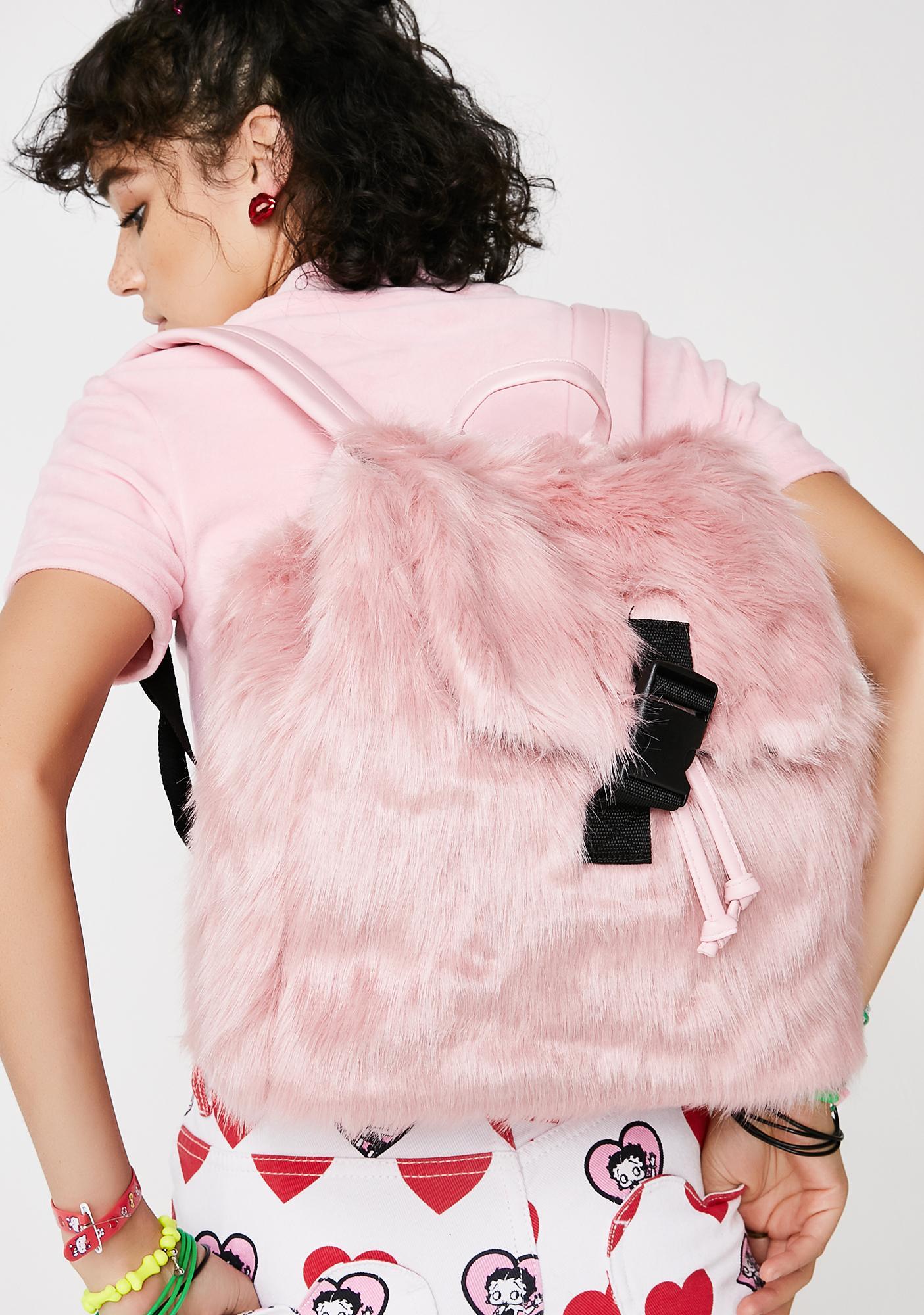Skinnydip Candy Fur Backpack