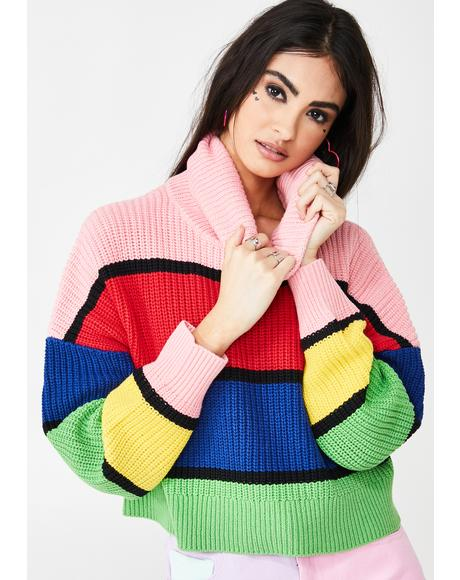 Bright Stripe Knitted Jumper