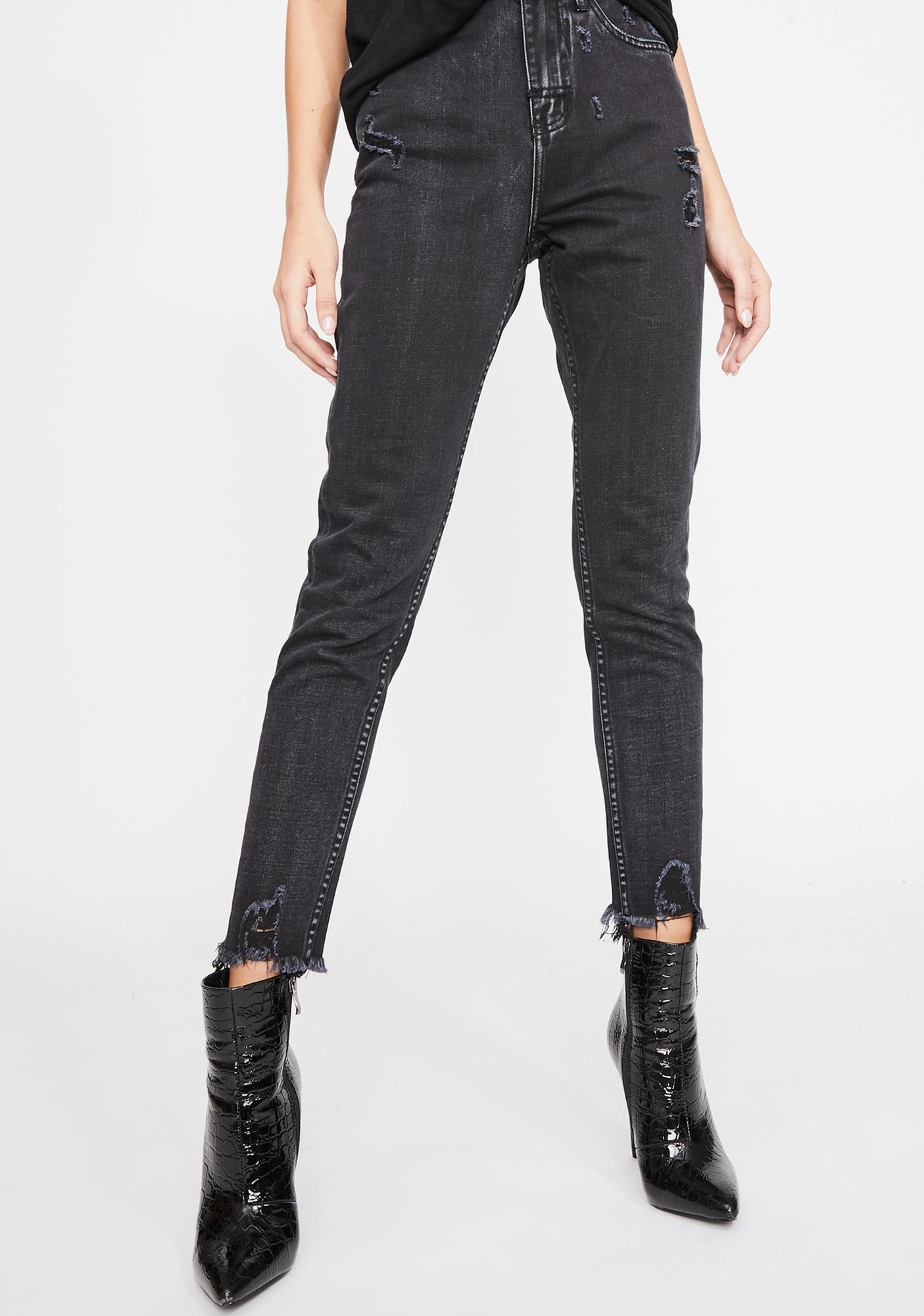 The People VS High Waist Mum Jeans