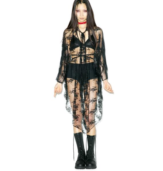 Widow (old) Death Wish Lace Batwing Dress