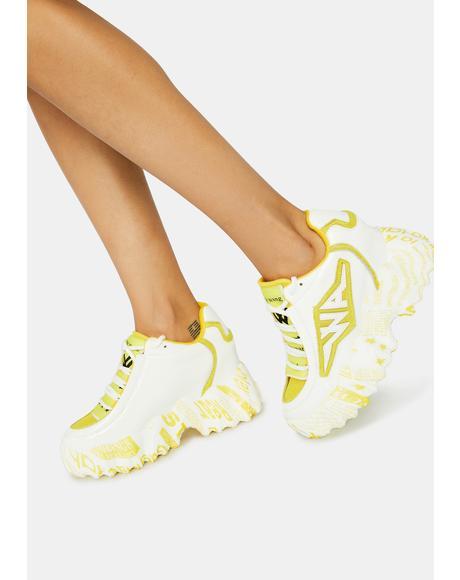White Blackberry Sneakers