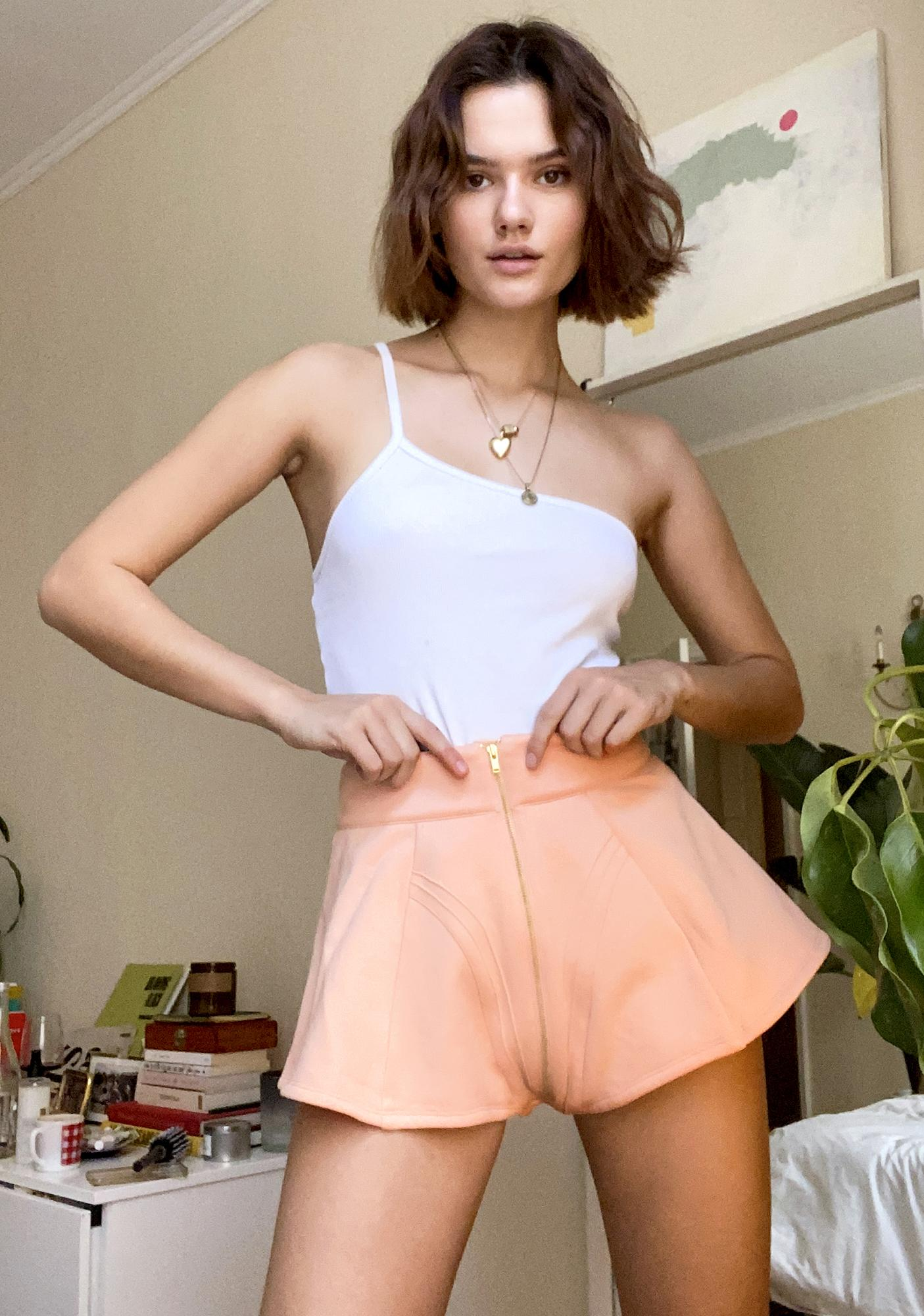 Selkie Rose Gold Fleece High Waist Shorts