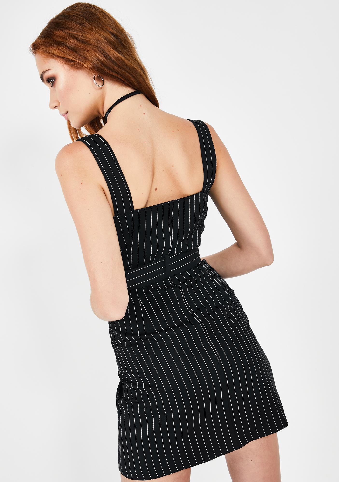 Runaway the Label Parker Pinstripe Dress