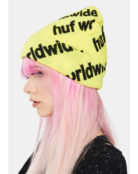 Yellow Campaign Knit Beanie