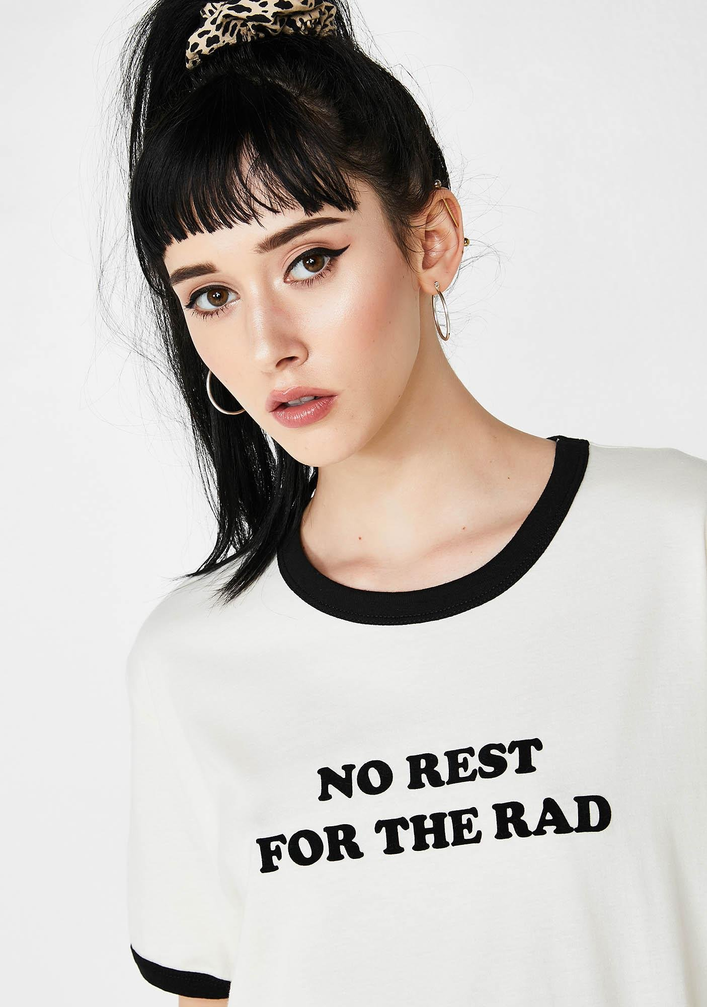 Top Knot Goods No Rest For The Rad Ringer Tee