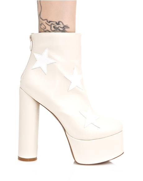 Nude Cloud Star Platform Boots