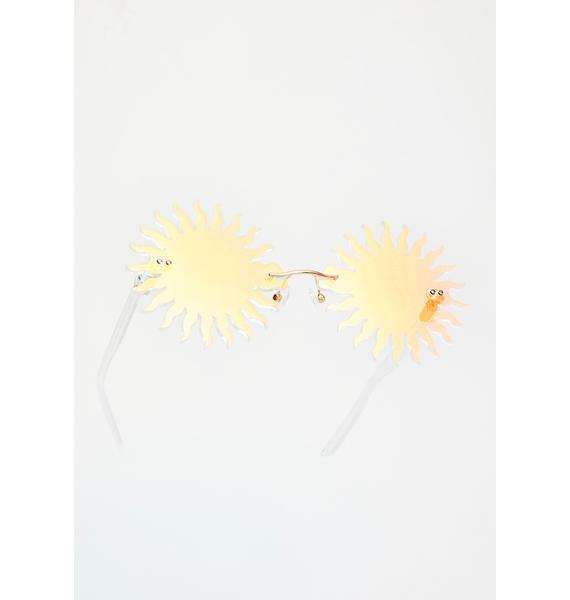 Animal Hair Sunny Side Glasses