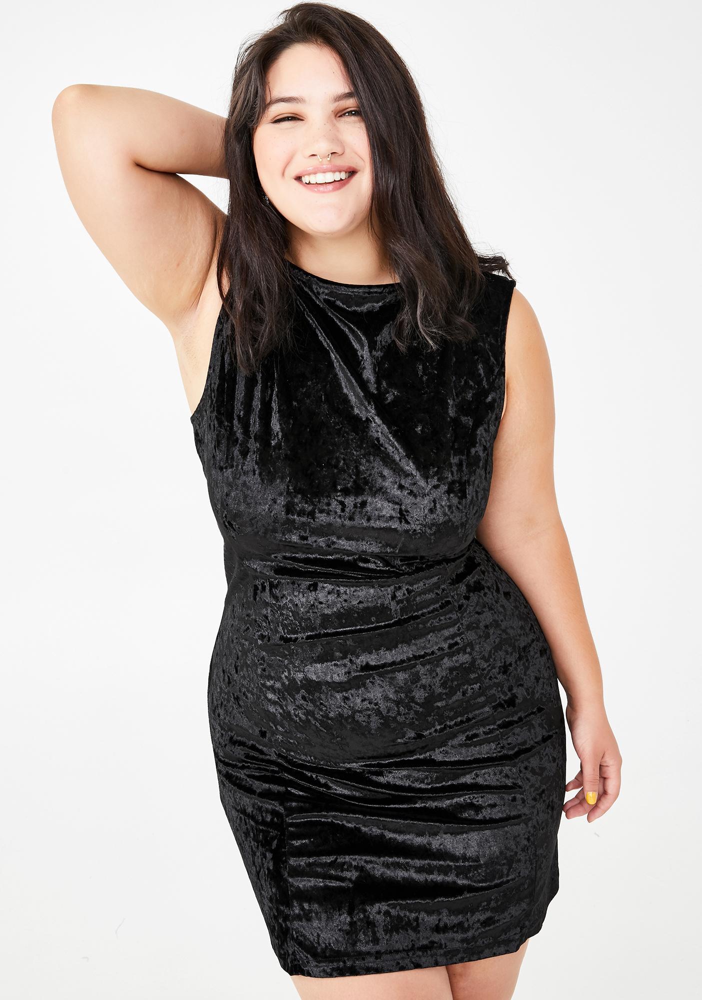 I\'m Just Too Posh Velvet Dress