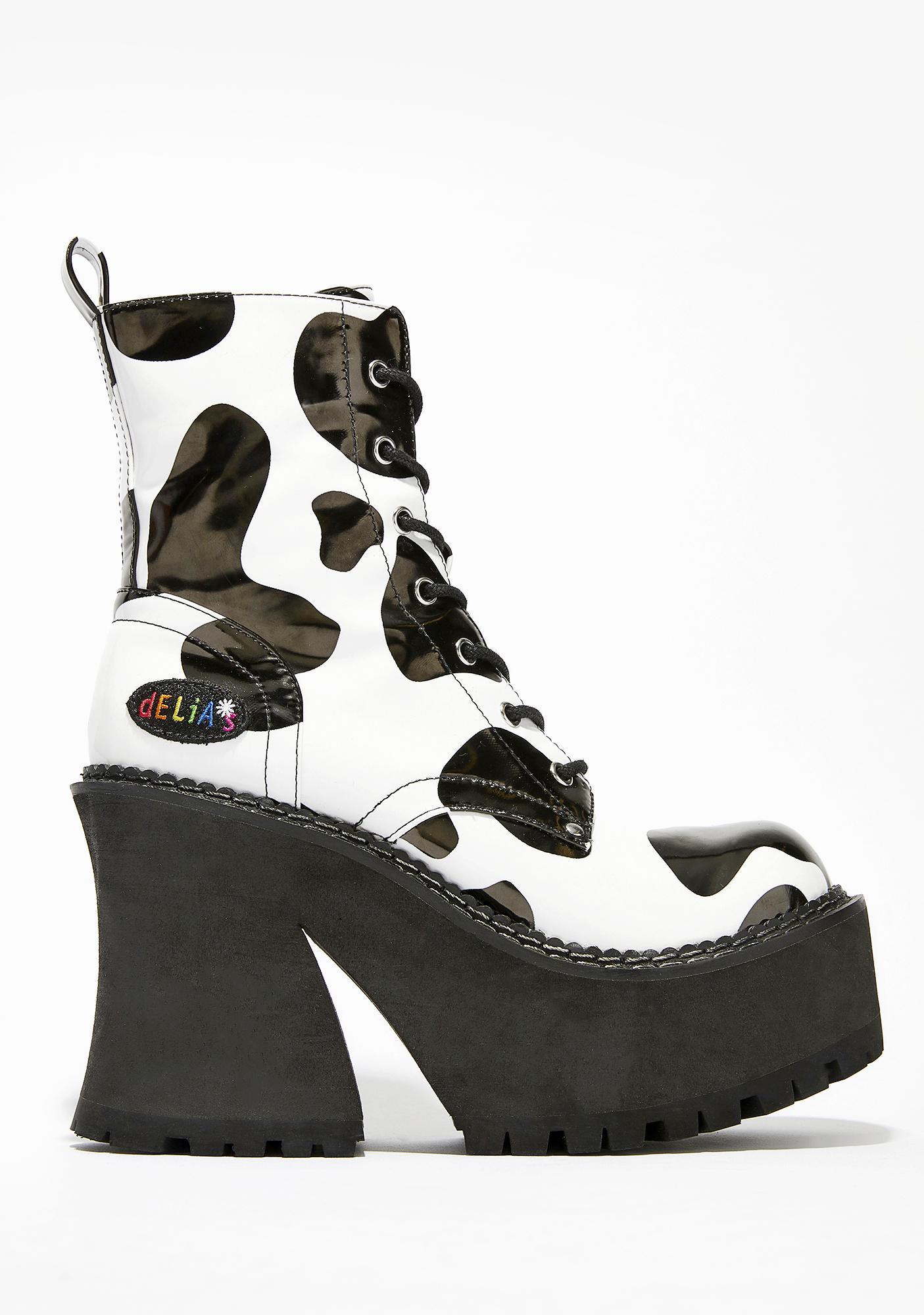 dELiA*s by Dolls Kill Animal Behavior Platform Boots
