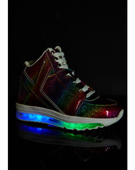 Rainbow Qozmo Aiire Light Up Sneakers
