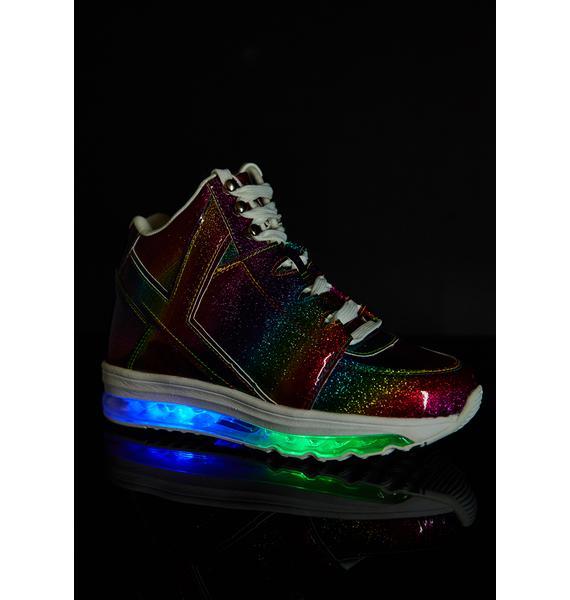 Y.R.U. Rainbow Qozmo Aiire Light Up Sneakers