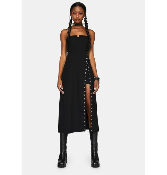 Punk Rave Sexy V-Neck Braces Dress
