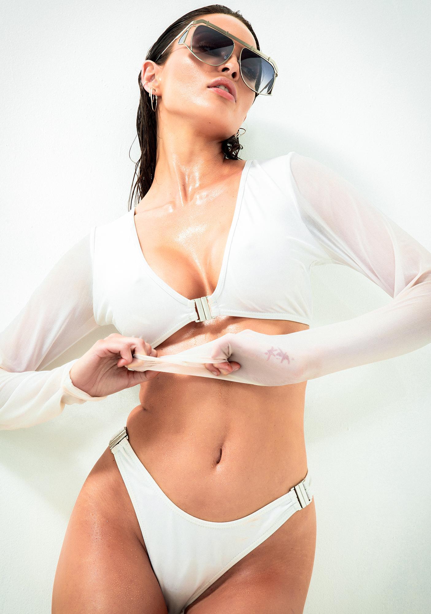 Poster Grl Beach Club Long Sleeve Bikini Set
