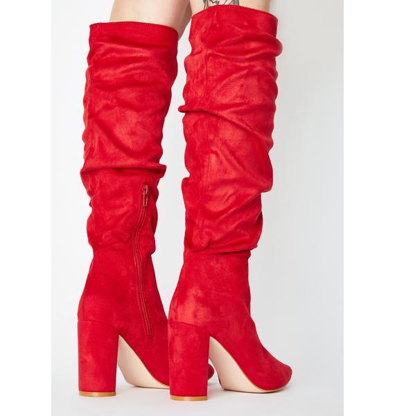 Public Desire Mine Knee High Boots