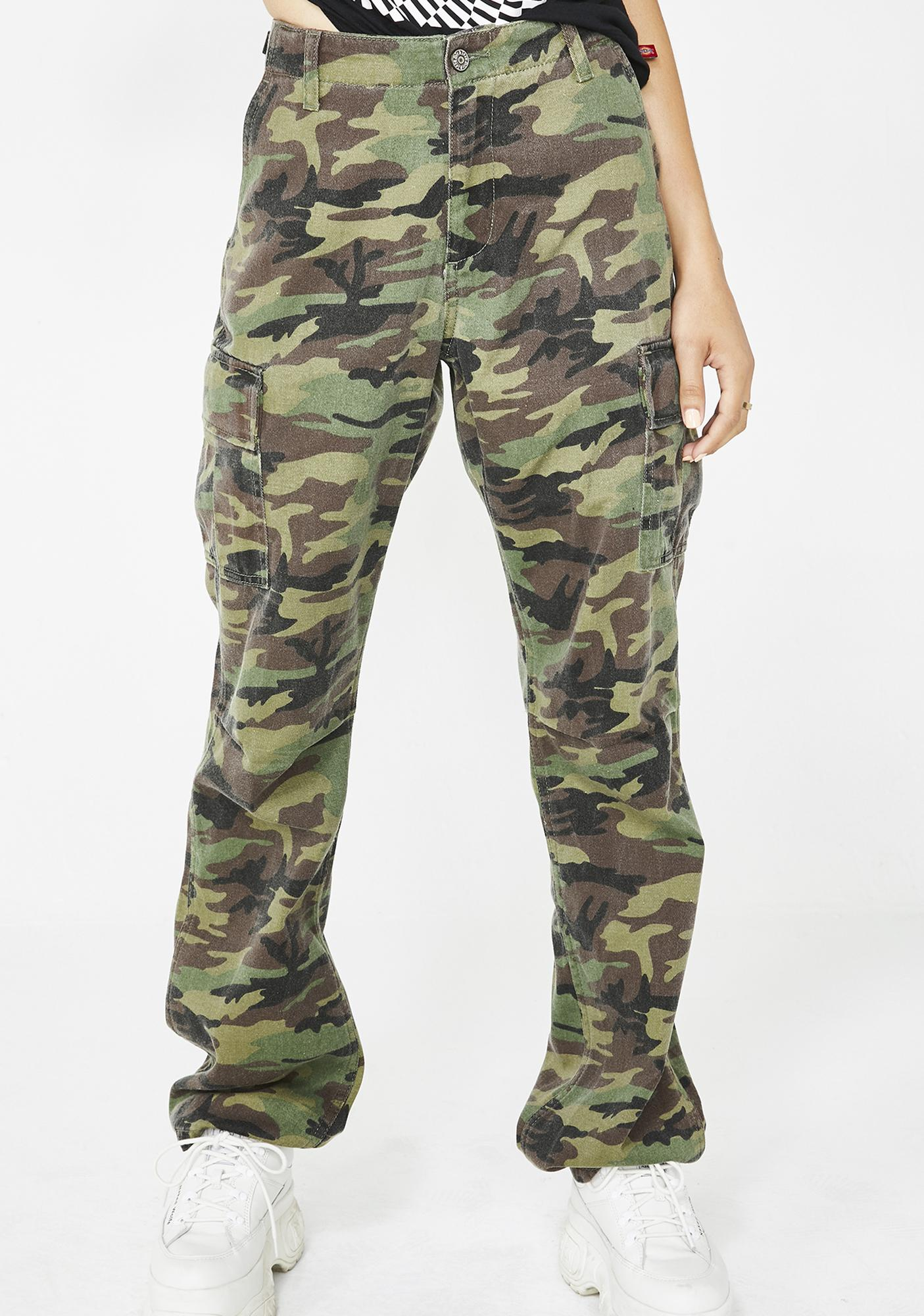 Dickies Girl Forest Camouflage Utility Pants
