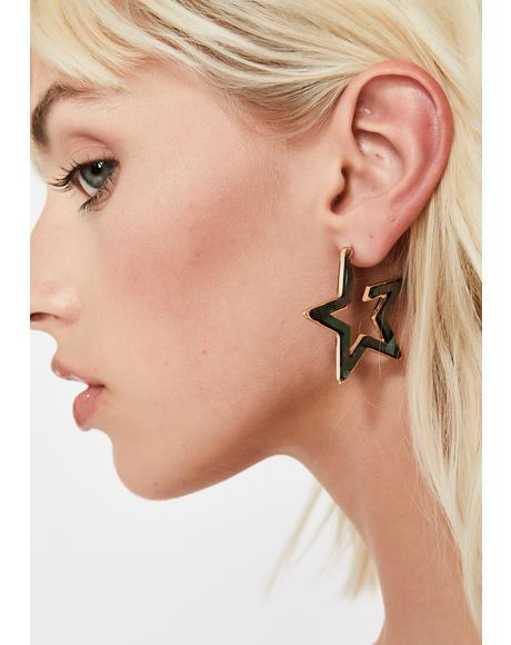 Dark Star Drop Earrings