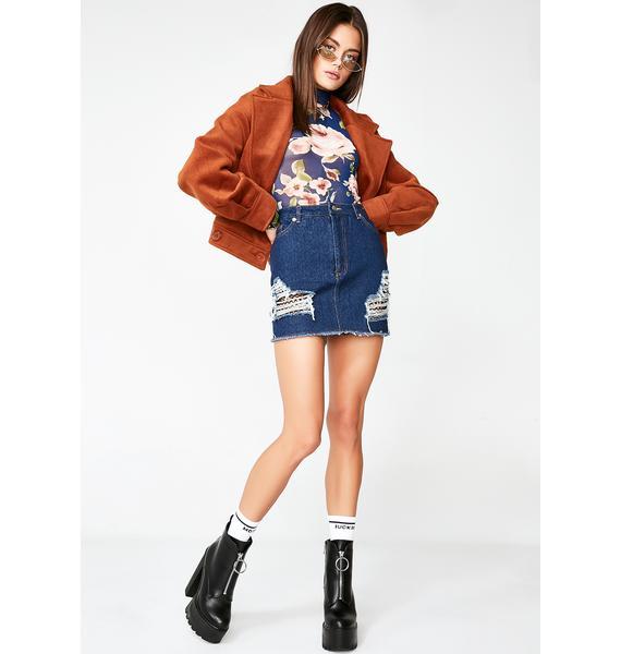 Somethin' Different Denim Skirt
