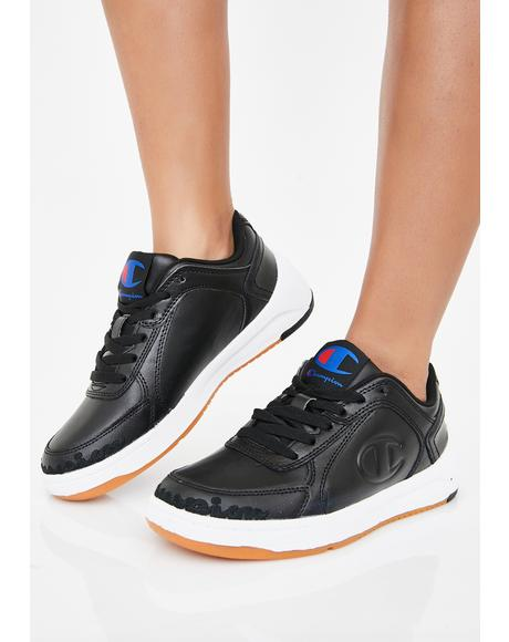 Black Super C Court Low Mono Sneakers