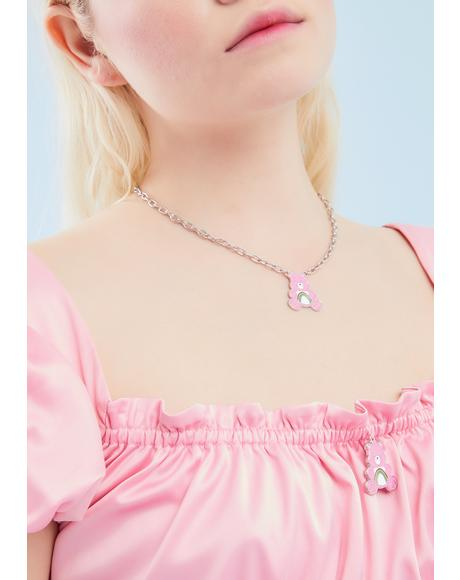 Cuteness Rules Charm Necklace