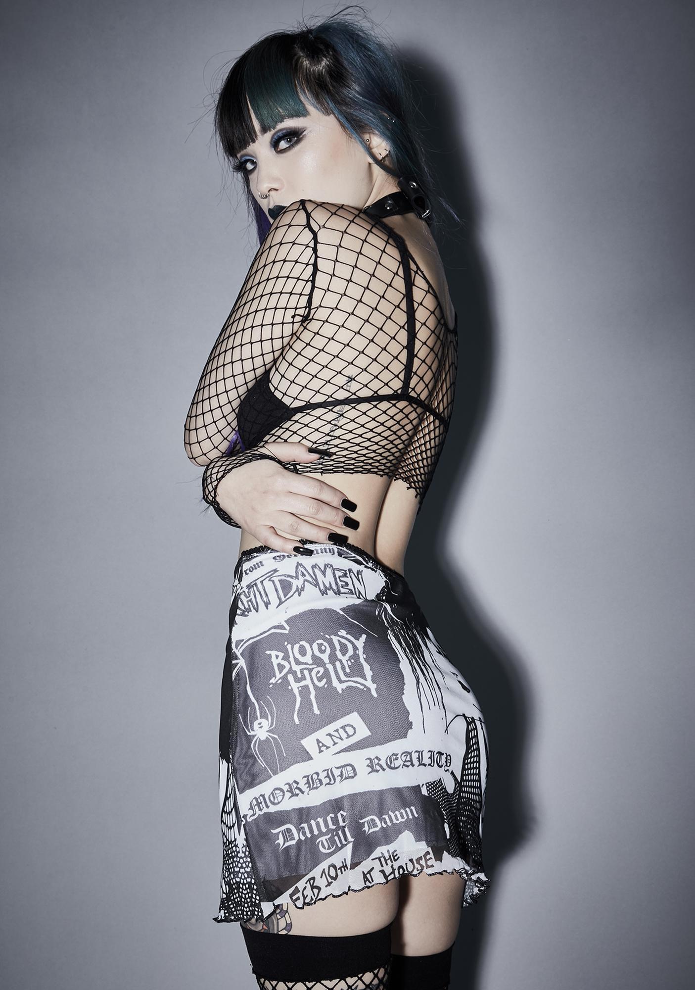 Widow It's Black Friday Mesh Skirt